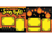 """""""An Outright Scary Night"""" ASSEMBLED Scrapbook Pages"""