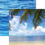 Caribbean Cruise - Tropical Dreams 12x12 Scrapbook Paper - 5 Sheets by Reminisce
