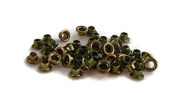 Olive Green Coloured Round Eyelets Set of 50
