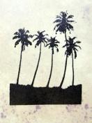 UMR-Design ST-029 Palms Airbrushstencil Step by Step Size S 5cm x 6.5cm