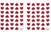 Red Hearts Glitter Stickers