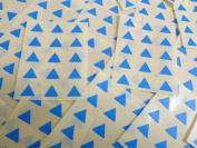 Small 10mm Triangular Mid Blue Colour Code Stickers, 150 Self-Adhesive Sticky Coloured Triangle Triangles Labels