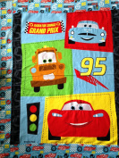 3D Cars Quilt Panel on Flannel Fabric Panel (Great for Quilting, Sewing, Craft Projects, Blanket, Wall Hangings, and More) 90cm X 110cm