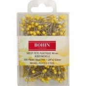 Bohin 26704 Yellow Head Quilting Pin Size 70cm - 4.4cm 500ct