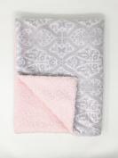 Pink Minky Baby Girl Blanket