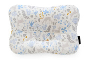 Baby Pillow For Newborn Breathable 3-Dimentional Air Mesh Organic Cotton, Protection for Flat Head Syndrome Bambi Blue