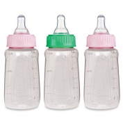NUK Gerber 3 Piece First Essentials Clear View Bottle, Girl, Slow Flow, 150ml