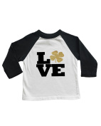 Unisex Baseball Tee - LOVE with Gold Clover