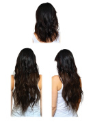 Suddenly Hair - 100% Remy Virgin Brazilian 50cm #2 Dark Brown Halo Type Hair Extension for Maximum Softness, Thickness, Shine and Durability. Simple to Use, Blends Easily and Holds Styling Longer.