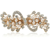 Beautiful Bead Fashion Faux Pearl Rhinestones Hair Clips Barrette Hair Beauty Tools White