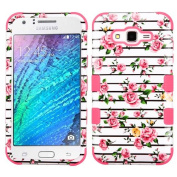 MyBat Cell Phone Case for Samsung Galaxy J7 - Pink Fresh Roses/Electric Pink