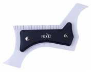 FEDOLI Beauty Premium Quality Hairline/Beard Shaping Tool ✮ Moustache Grooming Guide-Lining/Shaping/Edging (Multi-Curve) for Bagder and Personal Use ✮ Transparent ABS Plastic