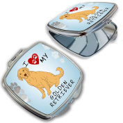 BleuReign(TM) I Love My Golden Retriever Dog Lover Compact Mirror
