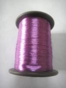 DARK PINK - Spool of Shiny Metallic Thread Yarn - For Crochet Sewing Embroidery Handwork Artwork Jewellery