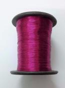 RUBY PINK - Spool of Shiny Metallic Thread Yarn - For Crochet Sewing Embroidery Handwork Artwork Jewellery