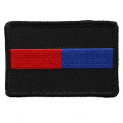 FALLEN FIRE OFFICER, High Thread Embroidered Iron-On / Saw-On, Heat Sealed Backing Rayon PATCH - 7.6cm x 5.1cm