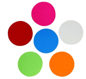 Assorted Colours Adhesive Felt Circles 5.1cm , 7.6cm , 10cm or 13cm Wide, Self Stick, Die Cut; DIY Projects, Professional Craft Finishing