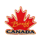"Canada ""Banff"" Maple Leaf Travel Patch National Park Souvenir Iron-On Applique"