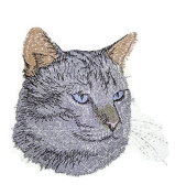 Amazing Custom Cat Portraits[Lynx point Siamese Cat Face ] Embroidered Iron On/Sew patch [10cm x 9.1cm ]Made in USA]