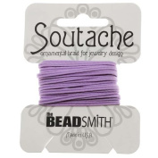 BeadSmith Soutache Braided Cord 3mm Wide - Lilac Purple (3 Yards) by Beadsmith