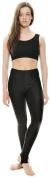 KDT001 Black Nylon Lycra Shiny Stirrup Dance Gymnastics Spray On Wet Tights Leggings By Katz Dancewear