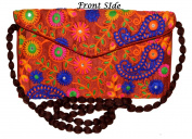 Designer Handcrafted Women Thread Embroidery Clutch Bag Clutch Purse for Girls