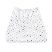 Burt's Bees Baby Organic Jersey Changing Pad Cover, Fog