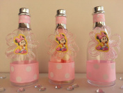 12 Minnie Mouse Fillable Champagne Bottles Baby Shower Favours Game Birthday Girl