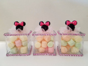 12 Minnie Mouse Fillable Blocks Baby Shower Favours Prizes Game Girl Decorations