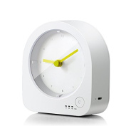 Nightlight Clock-Dimmable LED Night Light with Rechargeable Desk Clock,Baby Nursery Kids Bedroom Bedside Lamp with Sleep Mode Timer,Digital Silent Quartz Analogue Table Desktop Clock with Nightlight