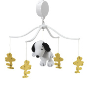 Bedtime Originals Peanuts Forever Snoopy Musical Mobile, White/Yellow
