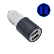 Car Charger,Tuscom 2-Port USB Universal Car Charger For iPhone6/6s/7 iPod/Ipad for Samsung Black)