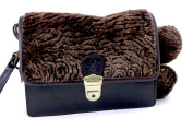 Patricia Nash Lanza Style Leather Fur Crossbody/Wristlet