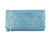 LONI Women's Synthetic Sequin Evening Clutch Bag