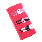 Leather Wallet , METFIT Cat Pattern Coin Purse Long Wallet Card Holders New