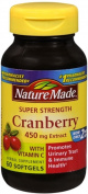 Nature Made Super Strength Cranberry Herbal Supplement 450 mg Extract Softgels 60 Soft Gels