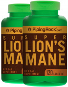 Super Lion's Mane Mushroom 500 mg 2 Bottles x 120 Capsules