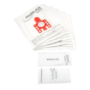 CKB Ltd Pack Of 20 Own Brand Miele Fjm Type (Red) Filter-Flo High 5 Layer Filtration Vacuum Bags Plus Filter Set
