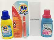 Tide Simply Clean & Fresh, Tide To Go Instant Stain Remover and Downy Fabric Softener Travel Laundry Bundle