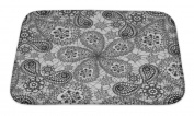 Gear New GN-BMAT-MF-A-1780644-2417 No Slip Microfiber Memory Foam Pattern with Snowflakes & Cucumbers Bath Rug Mat,,60cm X 43cm