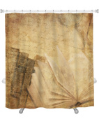 Gear New 6050197-GN-SC-A-7174 Old Books Shower Curtain,,190cm X 180cm