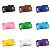 'Plastic Buckle Colour Mix Set 5/8 (15 mm wide)/Clip/Buckle Clips/Buckle for Paracord Ärmbänder, Dog Collars, Rucksack, Luggage, etc Ganzoo