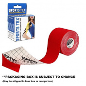 """Sports Tex """"Kinesiology Tape"""", 5cm X 5M, RED, Single Roll """" Made in Korea"""""""
