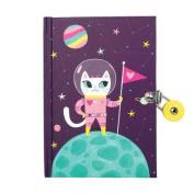 Space Cat Glow-In-The-Dark Locked Diary