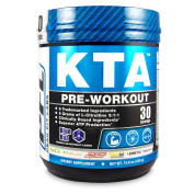 KTA Pre Workout Supplement - 30 Servings Blue Raz 6 Trademarked Ingredients Boosts Workout Intensity For Ultimate Gains in Strength, Stamina, and Power to Build a lean Ripped Body by Peak Fit Labs