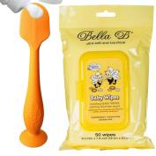 Bundle - BabyBum Nappy Cream Brush and Bella B Baby Wipes - Orange