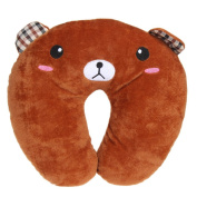 Topbeu Cute Cartoon Animals U Shaped Travel Pillow Neck Pillow For Aeroplane Travel, Bus, Train, Home and Office Use
