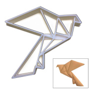 Origami Dove cookie cutter, 1 pc, Ideal for birds theme birthday party or for origami fans