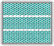Turquoise Honeycomb - Cake Side Designer Strip - Edible Cake/Cupcake Party Topper!!!