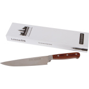 LedgeON 20cm Professional Chef Knife - Pro Series - High Carbon Stainless Steel Blade - Wood Handle
